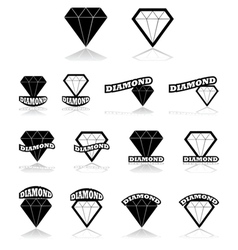 Diamond icons vector image vector image