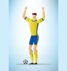 football player 27 vector image vector image