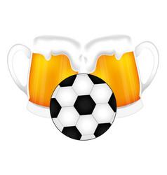 football soccer balloon emblem vector image vector image