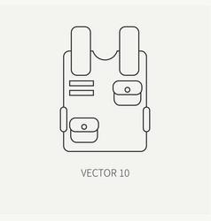 line flat military icon bulletproof vest vector image