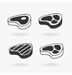 Meat Steak Symbol vector image vector image