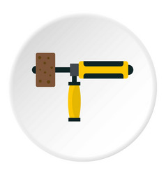 precision grinding machine icon circle vector image vector image