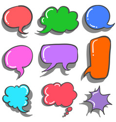 collection stock of text balloon colorful vector image