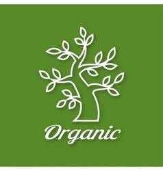 Linear of Organic green tree vector image