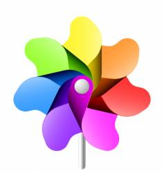 pinwheel vector image vector image