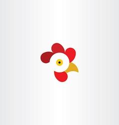 chicken or rooster head logo vector image vector image