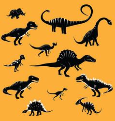 dinosaur cartoon collection set vector image