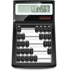 electronic calculator abacus vector image vector image