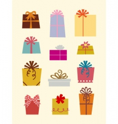 gift box's vector image vector image