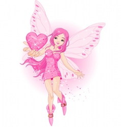 love fairy vector image vector image