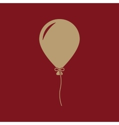 The balloon icon holiday symbol flat vector