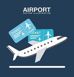 airport terminal vector image