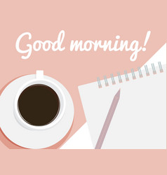 card good morning vector image