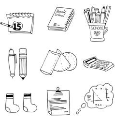 Doodle element school education vector