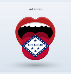 electoral vote of arkansas abstract mouth vector image vector image
