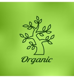 Linear of Organic green tree vector image vector image