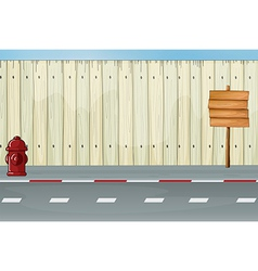 Roadside Fence vector image