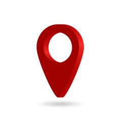 3d pin for map icon location point pointer vector image
