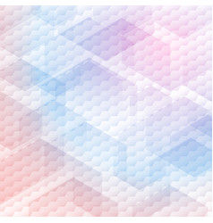 abstract colorful hexagons pattern on white vector image