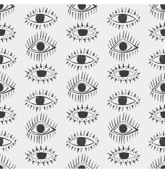 Abstract eyes seamless pattern vector