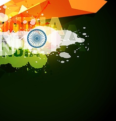 Abstract style indian flag vector