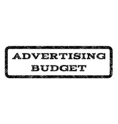 Advertising budget watermark stamp vector