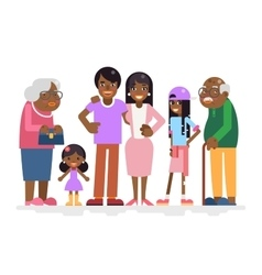 African Family Characters Child Teen Adult Old vector image