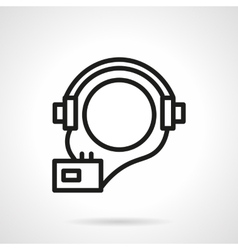 Audio courses simple line icon vector image