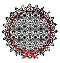 Black lace doily vector image