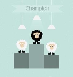 Black sheep is champion vector