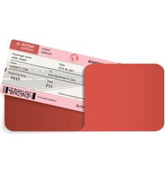 Boarding pass inside of envelope vector
