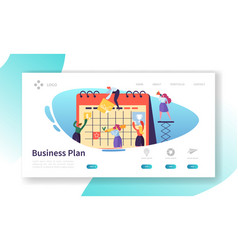 business calendar plan landing page template vector image
