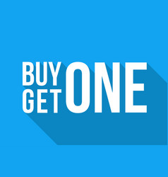 Buy one get one sign long shadow winter sale vector