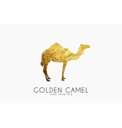 Camel logo Golden camel Animal logo Elegant vector
