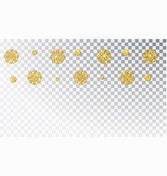 christmas golden decoration isolated hanging vector image