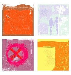 collection of grunge backgrounds vector image
