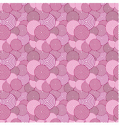 colored seamless pattern abstract spiral vector image