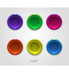 Colorful button icons for your site vector