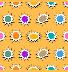 Comic bright elegant seamless pattern vector