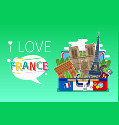 concept travel or studying french vector image