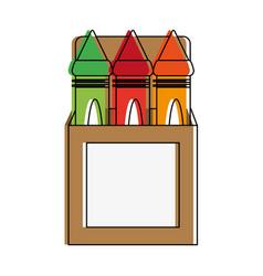 crayons draw utensil vector image