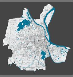 Detailed map phnom penh city cityscape royalty vector