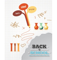 Education with pencil and torn paper vector