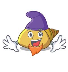 Elf mollusk shell character cartoon vector