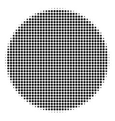 filled circle halftone icon vector image