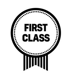 First class stamp on white vector