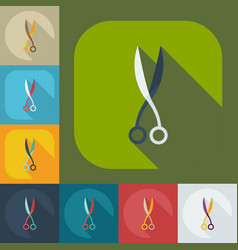 Flat modern design with shadow icons scissors vector