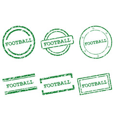 football stamps vector image