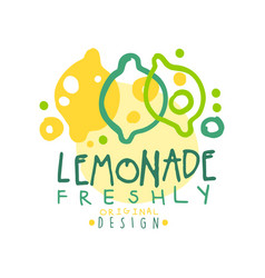 Freshly lemonade original design logo natural vector