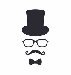 gentleman icon unknown man with a mustache in the vector image